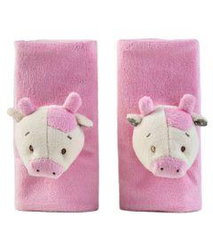 Protetor-de-Cinto-Divertido---Vaca-Rosa---KaBaby