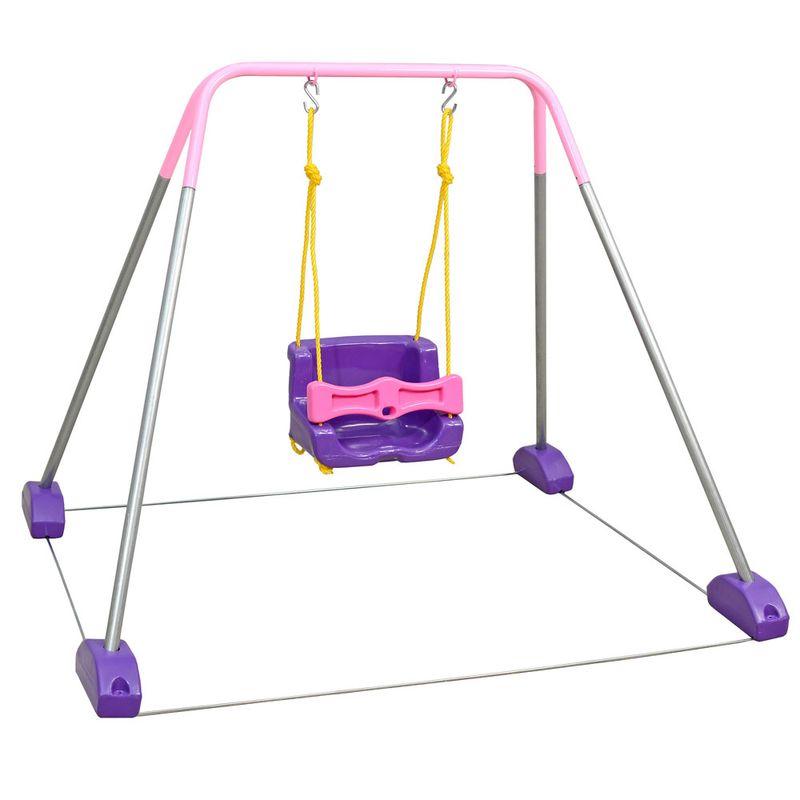 a7ed2a53b71 Jundbalanço com Estrutura Rosa - 1 Cadeira - Jundplay - Saraiva