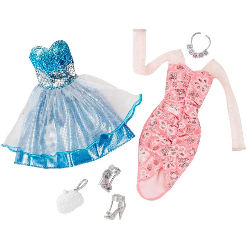 4c61494b7 Pack Com 2 Vestidos Barbie Fashion - Serie 8 - Mattel - PBKIDS