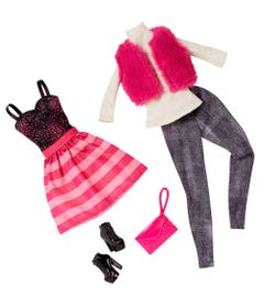 Pack-Com-2-Vestidos-Barbie-Fashion---Serie-11---Mattel