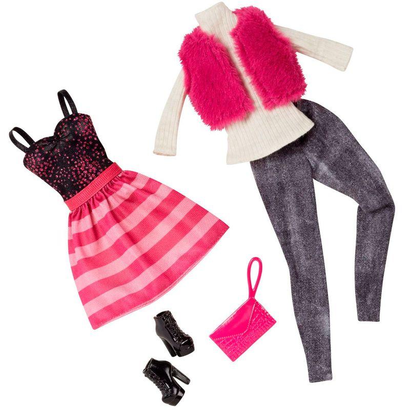 e70893065 Pack Com 2 Vestidos Barbie Fashion - Serie 11 - Mattel - PBKIDS