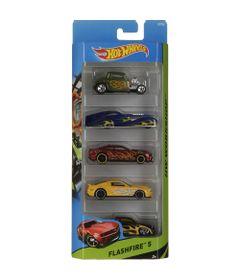 Carrinhos-Hot-Wheels---Pacote-com-5-Carros---Flashfire-5---Mattel