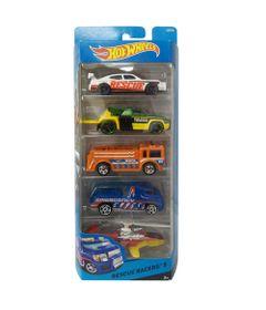 Carrinhos-Hot-Wheels---Pacote-com-5-Carros---Rescue-Racers-5---Mattel