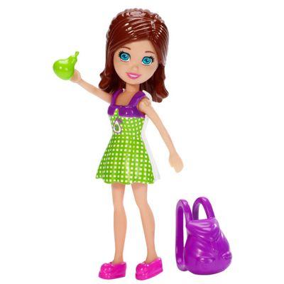 Boneca-Polly-Pocket---Sortimento-Basico---Lila-Vestido-Verde-e-Mochila---Mattel