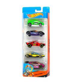 Carrinhos-Hot-Wheels---Pacote-com-5-Carros---Spin-Storm-5---Mattel