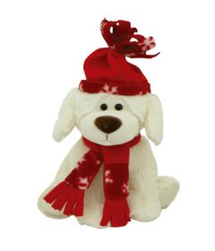 Pelucia-Cachorro-no-Inverno---Vermelho---23-cm---Bee-Me-Toys