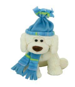 Pelucia-Cachorro-no-Inverno---Azul---23-cm---Bee-Me-Toys