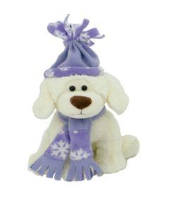 Pelucia-Cachorro-no-Inverno---Roxo---23-cm---Bee-Me-Toys