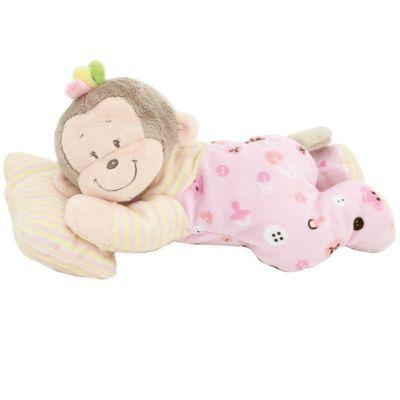 Pelucia-Macaco-Sonequinha---Rosa---38-cm---Bee-Me-Toys