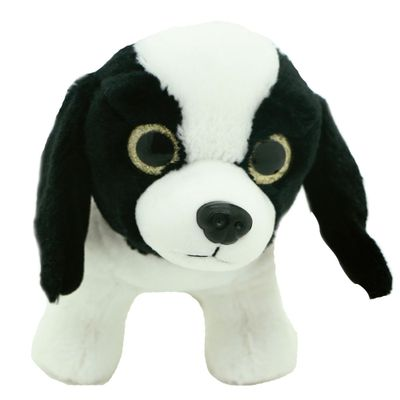 Pelucia-Cachorros-Visionarios---Branco-e-Preto---20-cm---Bee-Me-Toys