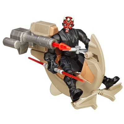 Boneco Articulado e Veículo - Star Wars - Hero Mashers - Sith Speeder e Darth Maul - Hasbro - Disney