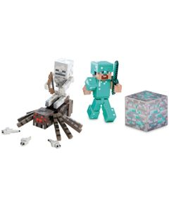 100115045-Kit-Bonecos-Minecraft-com-Acessorios-Diamond-Steve-e-Spider-Jockey-Multikids