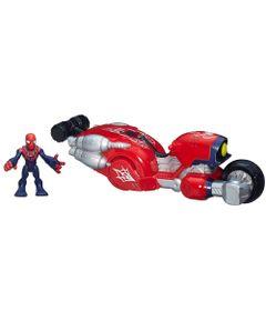 Boneco-com-Veiculo-Estilizado---Marvel-Super-Hero---Moto-Aranha---Hasbro