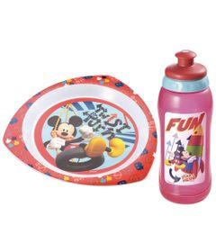 Kit-Copo-Squeeze-Prato-Raso-Triangular-para-Microondas-Mickey-Multikids-Baby