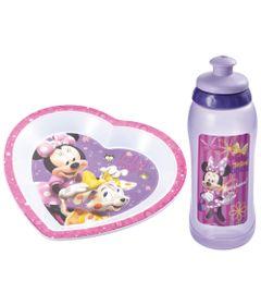 Kit-Copo-Squeeze-Prato-Raso-Triangular-para-Microondas-Minnie-Multikids-Baby