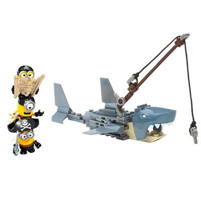 Playset-Mega-Bloks---Minions---Shark-Bait---Mattel