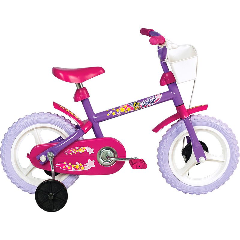 0cfd9aa83 Bicicleta Intantil - Fofys Lilás - Aro 12 - Verden Bikes - Ri Happy  Brinquedos