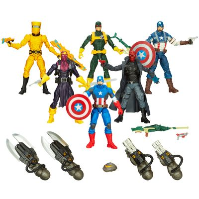 100117959-Imperdivel-Super-Kit-Marvel-Legends-Capitao-America-Hasbro