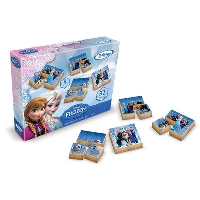 Quebra-Cabeca-Blocos-de-Madeira-32-pecas---Disney-Frozen---Xalingo