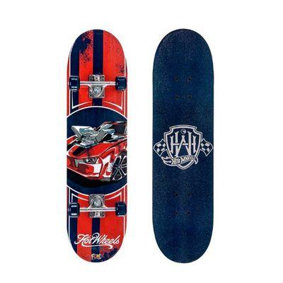 Skate-com-Acessorios-Hot-Wheels---Red-Car---Fun