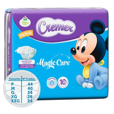 Fralda-Descartavel-Magic-Care-Economica---Disney-Baby---Cremer---P---44-Unidades