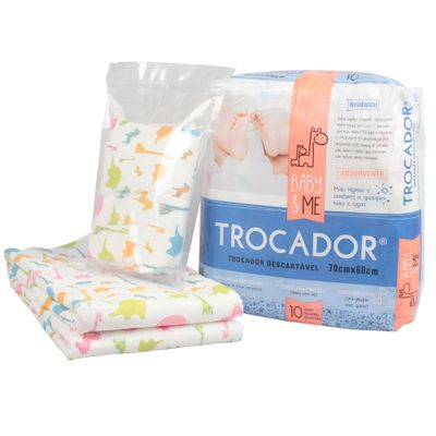 Trocador-Descartavel-e-Absorvente---10-Unidades---Baby-And-Me