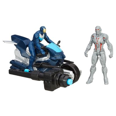 Figura-com-Veiculo-Marvel-Avengers---Age-of-Ultron-635-cm---Ultron-e-Iron-Man-Lider-de-Ferro---Hasbro