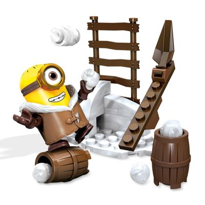 Playset-Mega-Bloks---Minions---Snowball-Fight---Mattel