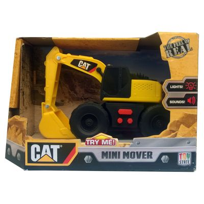 Trator-Caterpillar---Mini-Mover---Escavadeira-de-Braco-Frontal-com-Pa---DTC