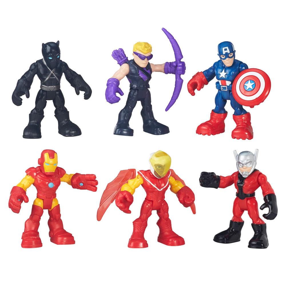 Mini Figuras Playskool Heroes - Marvel Super Hero - Capitão América Esquadrão da Selva - Hasbro