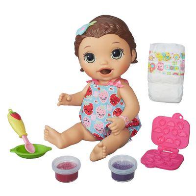 Boneca Baby Alive - Morena - Hora do Lanchinho - B5015 - Hasbro - Ri Happy