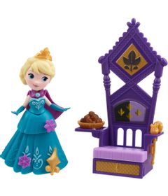 Mini-Boneca---Disney-Frozen-Little-Kingdom---Elsa-e-seu-Trono---Hasbro