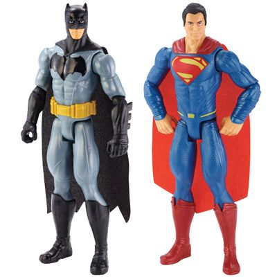 Pack-2-Figuras-Articuladas-30-Cm---DC-Heroes---Batman-Vs-Superman---A-Origem-da-Justica---Batman-e-Superman---Mattel