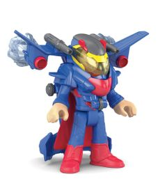 Figura-de-Acao-Imaginext---DC-Super-Friends---Superman-com-Armadura-Drone-Espacial---Mattel