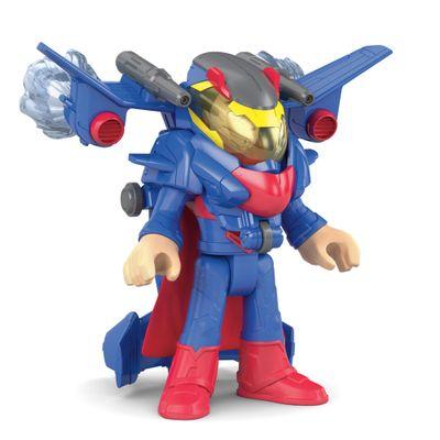 Figura-de-Acao-Imaginext---DC-Super-Friends---Superman-com-Armadura-Drone-Espacial---Mattel