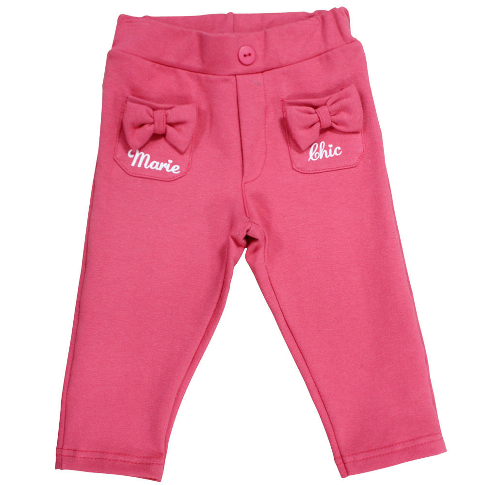 Calça Legging com Bolso - Pink - Marie - Aristogatas - Disney
