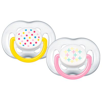 Chupeta-Contemporanea-FreeFlow---6-a-18-Meses---Double-Pack---Rosa-e-Amarelo---Philips-Avent-1