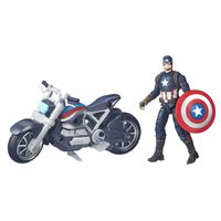 Figura-Articulada-18cm-Com-Veiculo---Marvel-Avengers---Capitao-America-Guerra-Civil---Capitao-America---Hasbro