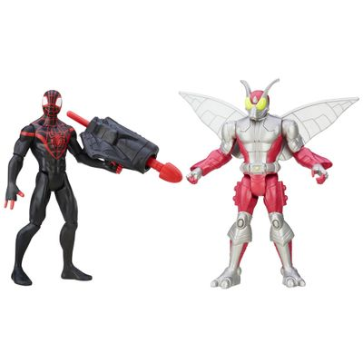 Pack-2-Figuras-Articuladas-15cm---Marvel-Ultimate-Spider-Man---Sinister-6---Kid-Arachinid-Vs-Beetle---Hasbro