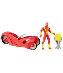 Figura-Articulada-15cm-com-Veiculo---Marvel-Ultimate-Spider-Man---Sinister-6---Iron-Spider-Man-com-Carro---Hasbro