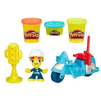 Massa-de-Modelar-com-Figura-e-Veiculo---Play-Doh-Town---Moto-da-Policia---Hasbro