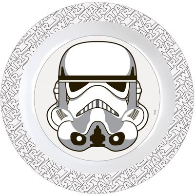 Prato-Plastico-Decorado---Personagens-Disney-Star-Wars---Stormtrooper---BabyGo
