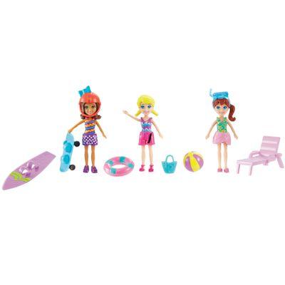 Conjunto-de-Bonecas---Ferias-da-Polly-Pocket---Polly-Ferias-na-Praia---Mattel