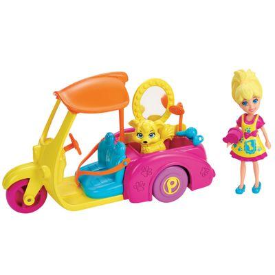 Boneca---Polly-Pocket-com-Veiculo---Moto-da-Polly-com-Pet---Mattel