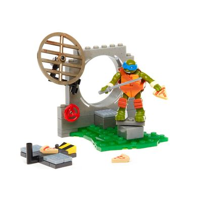 Playset-Mega-Bloks-com-Figura---Tartarugas-Ninja---Furia-da-Pizza-do-Leonardo---Mattel