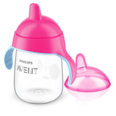 Copo-Pinguim---340-ml---Rosa---Philips-Avent