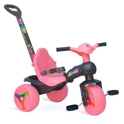 Triciclo---Veloban-de-Passeio---Rosa---Bandeirante