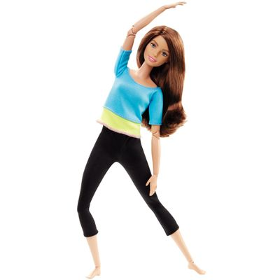 Boneca-Barbie-Articulada---Feita-para-Mexer---Blusa-Azul---Mattel