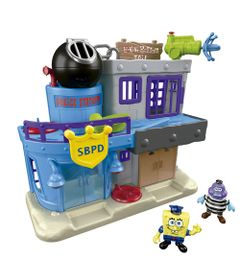 Playset-Imaginext---Bob-Esponja---Prisao-da-Fenda-do-Binquini---Fisher-Price