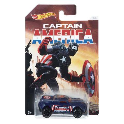 Carrinho-Hot-Wheels-Colecionavel---Serie-Marvel-Capitao-America---Capitao-America---RD-08---Mattel
